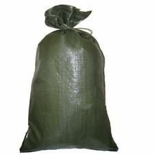 Pack of 5 Yuzet Green PP Sand Bags With Ties Flood Protection Sack Sandbag