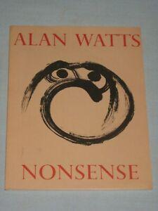 1967 BOOK NONSENSE BY ALAN WATTS