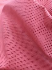 """Lambskin Italian Top quality Perforated """"Coral"""" skin hide leather, 0.6 mm 1.5 oz"""