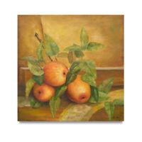 NY Art - Oranges on the Vine Still Life 24x24 Original Oil Painting on Canvas