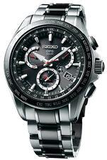New Seiko Astron Solar GPS Dual-Time Titanium Men's Watch SSE041