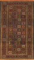 Geometric Tribal Kilim Kashkoli Hand-Woven 3'x6' Oriental Runner Rug Wool Carpet