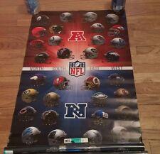 American National League Football Helmets Sports Poster Sealed All Teams NEW NIP