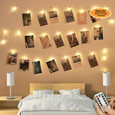 50 LED Photo Clip String Lights Fairy Lights Wire Wall Decor Hanging Strip Photo