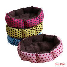 One Random Warm Cozy Small Soft Pet Polka Dot Bed Cushion Dog Cat Washable Nest