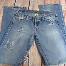 HOLLISTER Boot Cut Jean Women's Size 7 LONG TALL 34 x 35 100% Cotton SEXY!!!