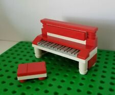 Lego Instrument Piano RED WHITE with Matching Bench Classic Music Upright