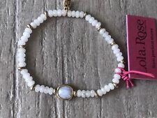 Bnwt Ladies Lola Rose Semi Precious Bracelet Grey/Gold Tone
