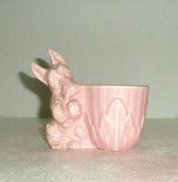 Vintage Figural Scottie Dog Planter Pink