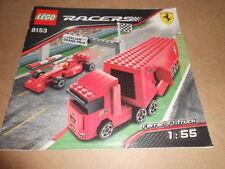Vintage LEGO Instruction Manual Ferrari F1 Truck 8153