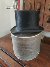 Vintage Cotrell & Leonard Top Hat and Dunlap & Co. Box signed by John Kellogg