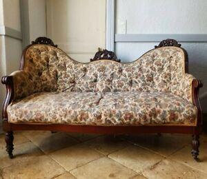 French Sofa, Antique Napoleon Sofa Set
