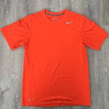 Nike Dri-fit Men's Short Sleeve T-Shirt Size S Hunter Blaze Orange