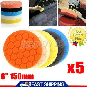 5x Car Polishing Heads Mop Pads Sponge Soft Foam Buffing Tool Set 6'' 150mm