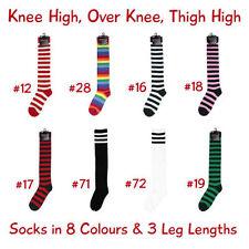 Cotton Blend Women's Thigh High Socks