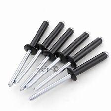 Alu Pop Rivets Aluminium Noir Tête Dôme Rivet Aveugles Métrique M2.4 M3.2 M4 M5