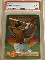 1993 93 Mark Mcgwire Topps Finest #92 PSA 9 Mint Population 197 Free Shipping