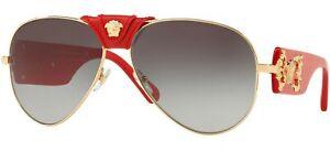 Versace Sunglasses 0VE2150Q 100211-62 - Gold Frame, Grey Gradient Lenses