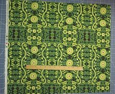AUSTRALIAN ABORIGINAL Quilting Fabric WATER DREAMING- GREEN -half yard increment