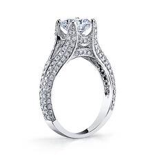 Real 2.07 Ct Cushion Cut Diamond Pave Split Shank Engagement Ring I,IF GIA 14K