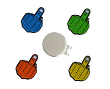 Pack of 4 Magnetic Middle Finger Funny Golf Ball Markers with Hat Clip.