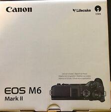 Canon EOS m6 Mark II 32.5mp espejo lotes sistema cámara nuevo y en su embalaje original