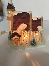 Vintage Christmas Valley Hollyshire Place Church Collectible with 1991