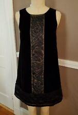 Stunning Sleeveless Black Silk Blend Velvet Dress By BCBG Maxazria!! Size 4!!