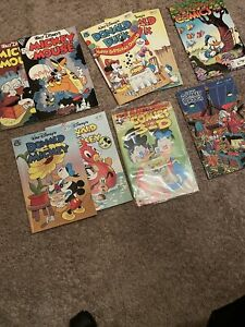 LOT of 9 Walt Disney's Mickey Mouse Donald Duck, Mint 1980's (Gladstone)