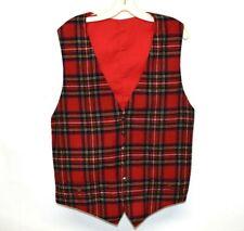 """New listing Reenactment Festival Stewart Tartan Plaid Vest Waistcoat 44"""""""