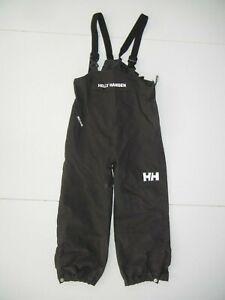 HELLY HANSEN Gray Nylon PERFORMANCE RAIN BIBS Hike Fishing Pants Kid YOUTH S 6