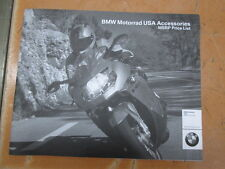 BMW 2004 Motorrad USA Factory Accessories MSRP Price List Catalog 19 Pages