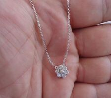 925 STERLING SILVER CLUSTER NECKLACE PENDANT W/ .50 DIAMONDS/18''