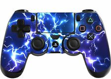 Blue Electric Playstation 4 (PS4) Controller Sticker / Skin / Wrap / PS22