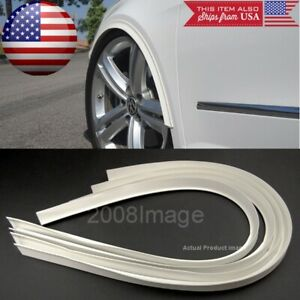 "4 Pieces 47"" White Arch Wide Body Fender Flares Extension Lip For Mazda Subaru"