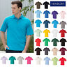 Henbury Classic Cotton Stand-up Collar Pique Polo H100 - Unisex Plain Casual Tee