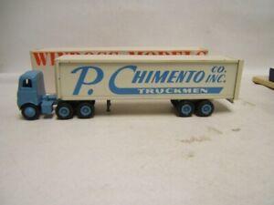 Winross P Chimento Tractor Trailer 1/64 Diecast MIB White 5000 Cab in box 1979
