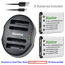 Kastar ENEL10 Battery Charger for Nikon Coolpix S60 S80 S200 S220 S230 S500 S510
