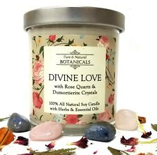 Divine Love Soy Candle 100% Natural Crystal Hope Trust Faith Grace Wiccan Pagan