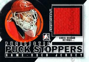 2013-14 ITG Enforcers Pugilistic Puck Stoppers Jersey #8 Chris Osgood