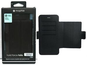 NEW ORIGINAL Mophie iPhone 7+/8 PLUS Hold Force Folio BLACK Card Wallet Magnetic