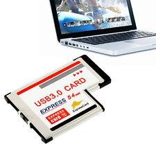 Express Card Expresscard 54mm to USB 3.0x2 Port Adapter ZJUS
