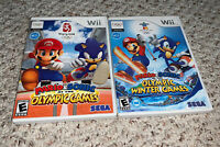 Mario Sonic Olympic Winter / Summer / 2012 London Games Lot Nintendo Wii Lot