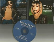 WHITNEY HOUSTON Heartbreak Hotel MIX & INSTRUMENTAL PROMO CD single Kelly price