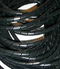 6.5mm SPIRAL WRAP CABLE TIDY 2m LENGTHS **FREE P&P**