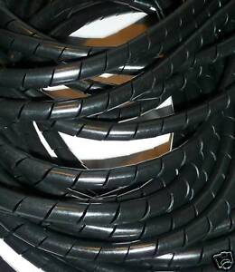 8mm SPIRAL WRAP CABLE TIDY 1m LENGTHS **FREE P&P**