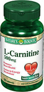 30 L-Carnitine 500mg Nature's Bounty Vitamin Supplement Energy Heart Health NEW