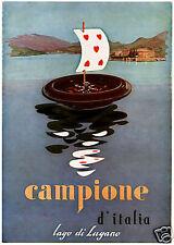 CAMPIONE d'It.-Casinò-LUGANO-roulette-BACCARAT-1956.