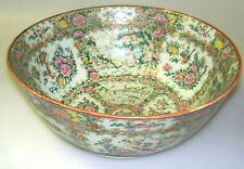 ANTIQUE CHINESE ROSE MEDALLION PUNCH BOWL - VERY LARGE - BEAUTIFUL--UNIQUE!!!!