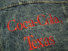 Vintage 80's  COCA COLA TEXAS DENIM  Jean JACKET Small Groovy!!!!! COKE
